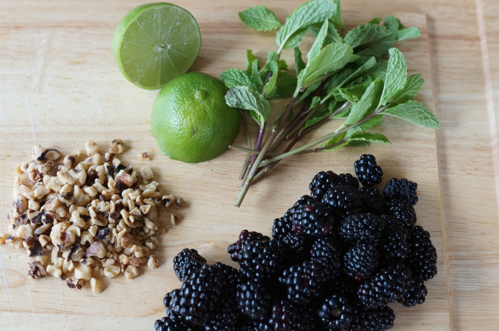 Lime, Walnuts, Mint, Blackberries