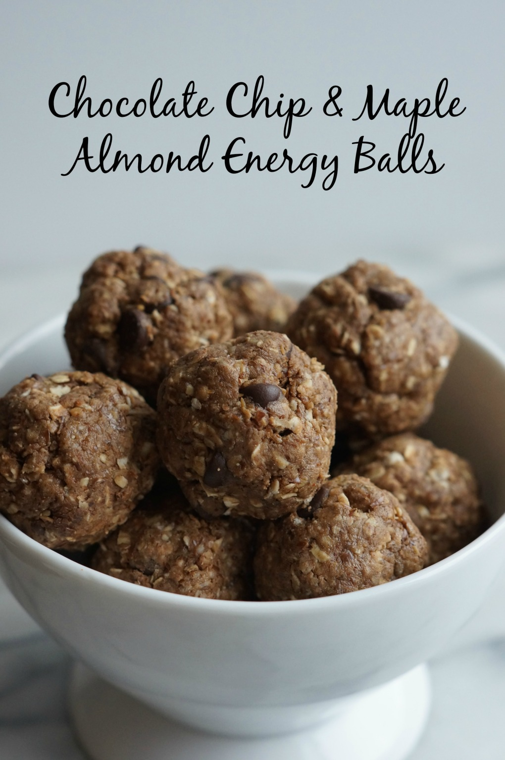chocolate chip and maple almond energy balls