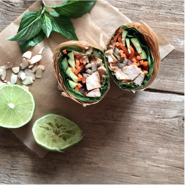 Thai Chicken Collard Wrap